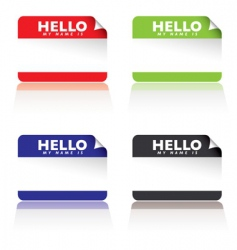 hello name tags vector image vector image