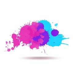 Purple and blue color ink vector image