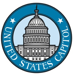 United States Capitol badge vector image