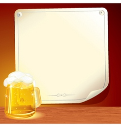 beer poster for your text vector image