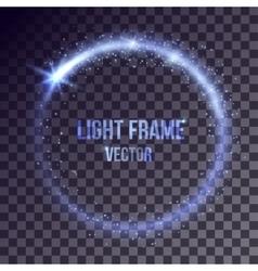 blue light frame vector image vector image