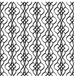 calligraphic pattern with curls vector image vector image