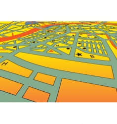 city streets vector image