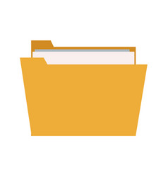 folder file document paper information icon vector image