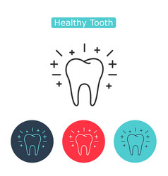 outline tooth icon vector image vector image