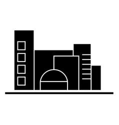 city traffic cars icon sig vector image