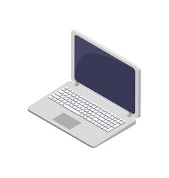 modern laptop electronic device symbol vector image vector image