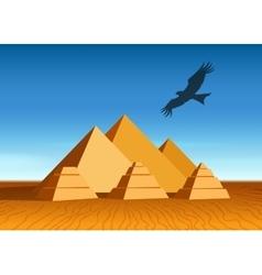 Pyramid landscape vector image vector image