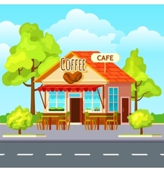Street Coffee Outdoors Composition vector image vector image