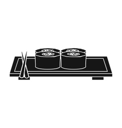Sushi icon in black style isolated on white vector image