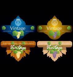 wine labels10 vector image vector image