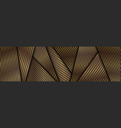 abstract black and bronze smooth stripes corporate vector image