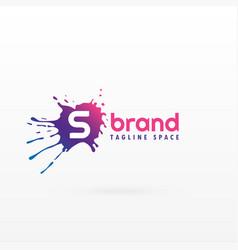 Abstract ink splash logo concept template vector