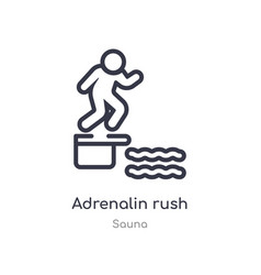 Adrenalin rush outline icon isolated line from vector