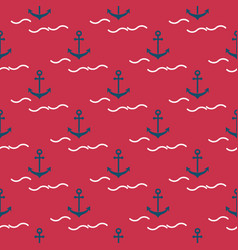 anchors and waves vector image