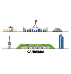 Australia canberra flat landmarks vector