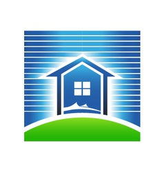 Beach house vector image