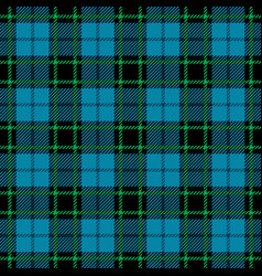 blue and green tartan seamless pattern vector image