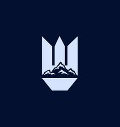 building mountain creative landscaping logo vector image