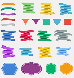 Ccolorful ribbons vector