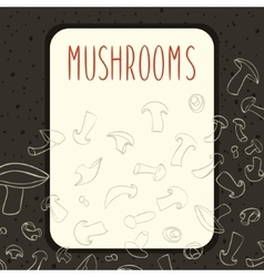 Champignone mushrooms menu design vector image