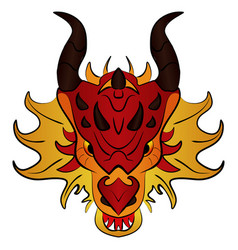 Chinese dragon cartoon vector