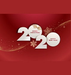 Christmas and new year 2020 vector