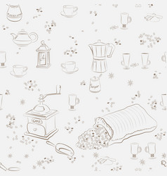 Coffee sketch background vector