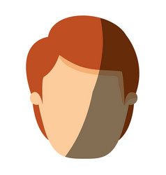 color image shading front view faceless man with vector image