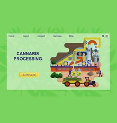 Concept plant for hemp processing website vector
