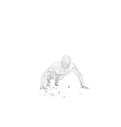 Conceptual abstract man doing push ups in gym vector