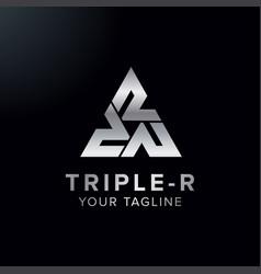 Creative letter triple r logo concept design vector