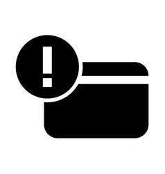 credit card warning icon vector image