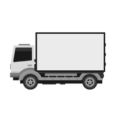 Delivery Truck with Blank Mobile Billboard vector image