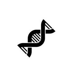 dna chromosome genetic flat icon vector image