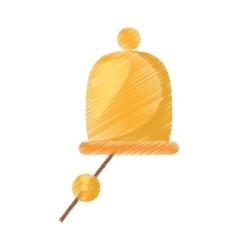 drawing gold ship bell nautical symbol vector image
