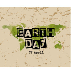 Earth day typography vector