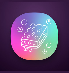Eco sponges app icon vector