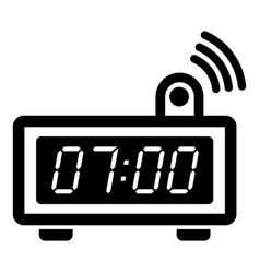 electronic alarm clock icon simple black style vector image