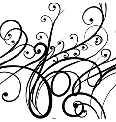 Elegant seamless scribble floral ornament vector