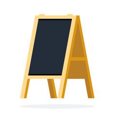 empty street chalk board flat isolated vector image