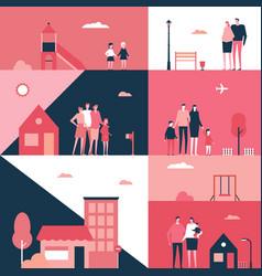 Family - flat design style conceptual vector