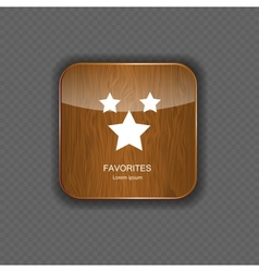 Favourites wood application icons vector image