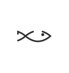 fish menu icon design template isolated vector image