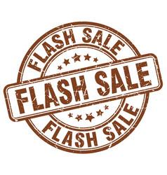 Flash sale brown grunge stamp vector