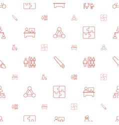 Group icons pattern seamless white background vector