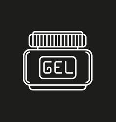 Hair gel simple icon on black background vector