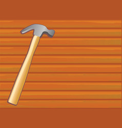 Hammer on wood texture vector