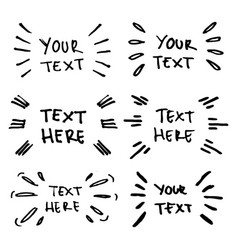 Hand drawn collection text emphasis vector