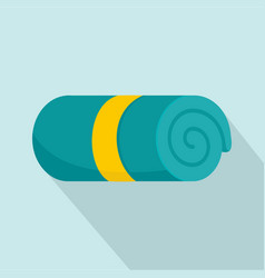 hotel towel icon flat style vector image